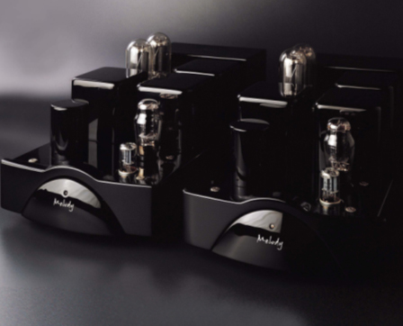 Комплект из двух ламповых монофонических усилителей мощности.  Моноблоки собраны по однотактной схеме и работают в...