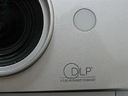 TOSHIBA MT200 объектив и логотип технологии DLP