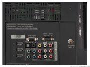 На задней панели расположились три разъема HDMI, вход для ПК и RS-232