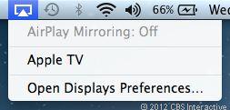 Функция AirPlay медиаплеера Apple TV
