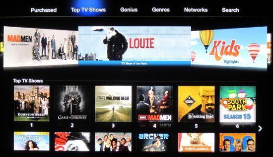 Приложение iTunes Store медиаплеера Apple TV