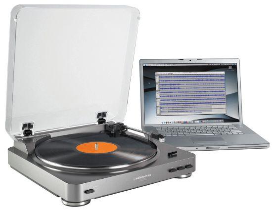 Виниловый проигрыватель Audio-Technica AT-LP60 USB