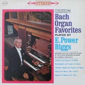 Альбом «Произведения Баха для органа. Избранное» E. Power Biggs