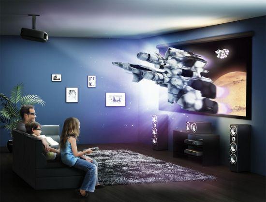 Домашний кинотеатр с применением проектора Epson