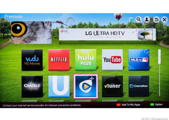 Интерфейс Smart TV LG LA8600