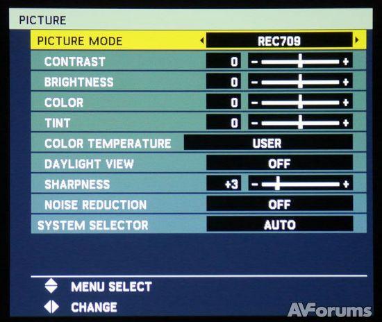 Меню и настройки проектора Panasonic PT-RZ470EAK