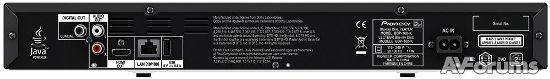 Разъемы и порты 3D Blu-ray плеера Pioneer BDP-160