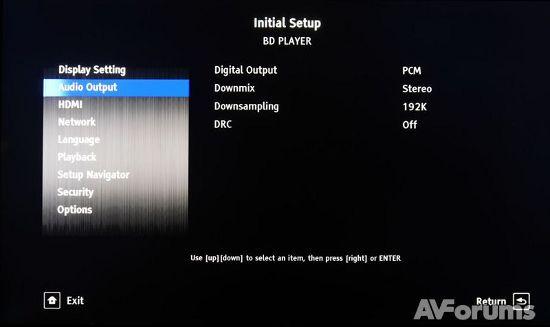 Меню и настройки 3D Blu-ray плеера Pioneer BDP-160
