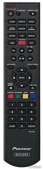 Пульт ДУ для 3D Blu-ray плеера Pioneer BDP-160
