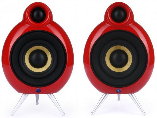 Полочная активная АС PodSpeakers MicroPod Active Pack BT red