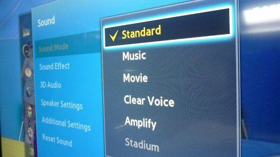 Настройки звука в Samsung UE40F6400