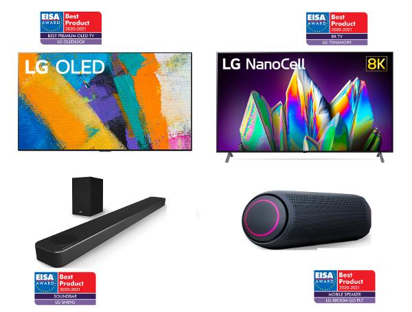 Популярные модели ТВ и аудио продукции от LG - триумфаторы премии EISA 2020