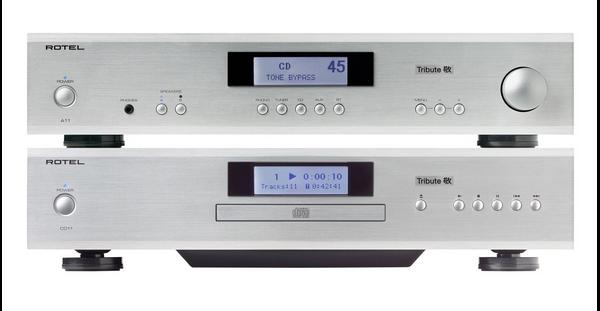 Компания Rotel выпустила специальное издание усилителя A11 и плеера CD11 с обозначением Tribute